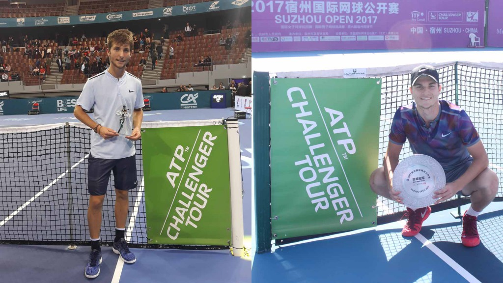 O francês Corentin Moutet e sérvio Miomir Kecmanovic, ambos de apenas 18 anos, venceram os primeiros challengers neste domingo.