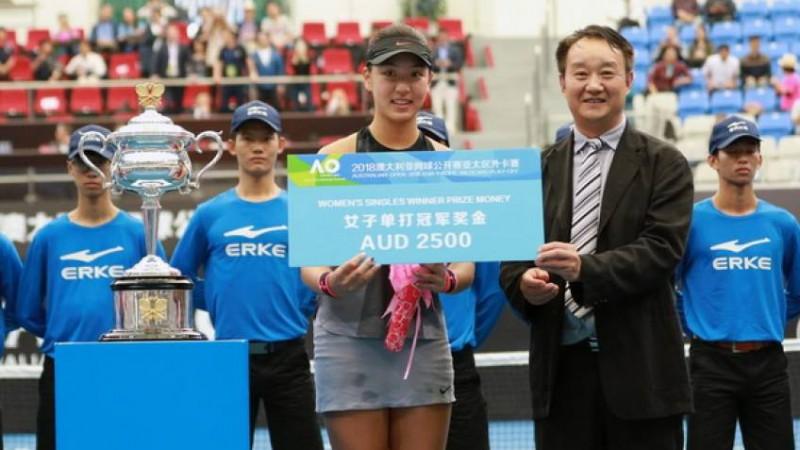 Chinesa de 16 anos e top 5 no ranking mundial juvenil irá disputar o Australian Open