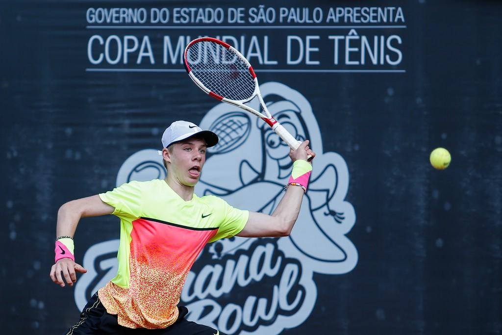 Denis Shapovalov jogou o Banana Bowl de 2015 em São José dos Campos (Foto: Marcelo Zambrana/DGW)