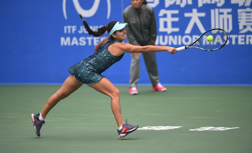 A jovem colombiana já atuou no ITF Junior Masters no ano passado (Foto: Paul Zimmer/ITF)