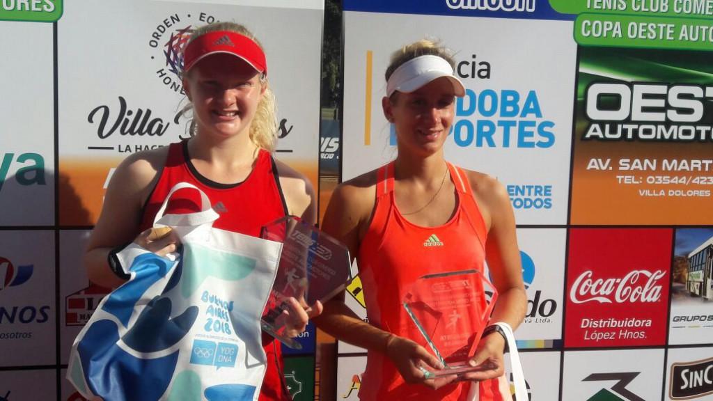 Francesca Jones, de 17 anos, venceu torneio no saibro argentino (Foto: Daniel Corujo)