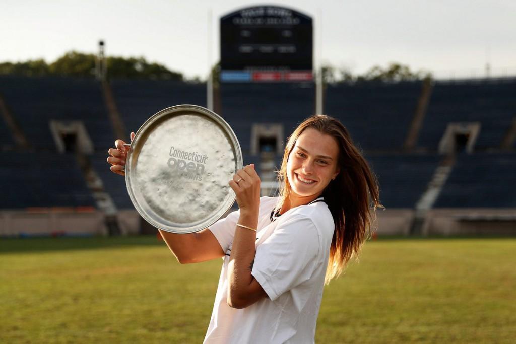 Aryna Sabalenka venceu quatro jogos contra top 10 nas últimas semanas e conquistou seu primeiro WTA em New Haven (Foto: WickPhoto)