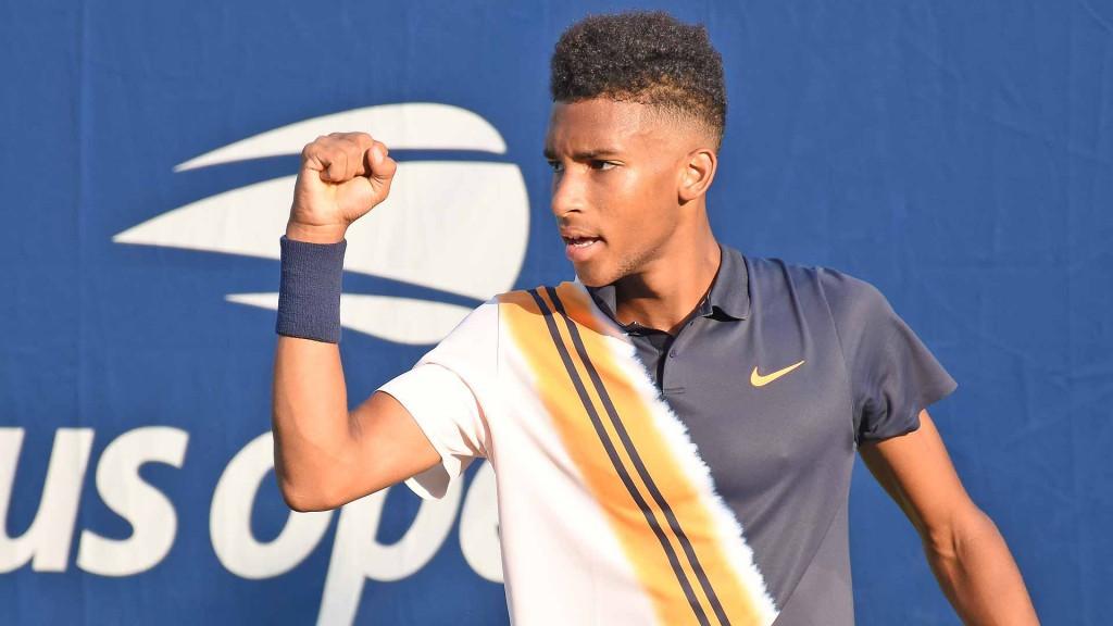 Felix Auger Aliassime, de 18 anos, disputará seu primeiro Grand Slam e enfrentará Denis Shapovalov (Foto: Andrew Eichenholz/ATP)