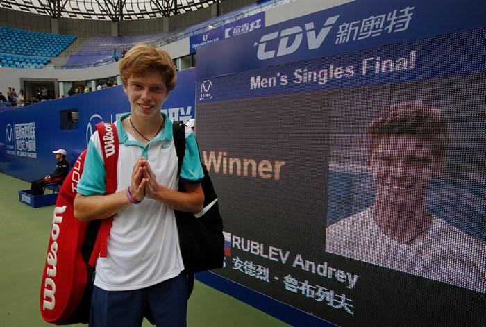 Andrey Rublev venceu a edição inaugural do torneio em 2015