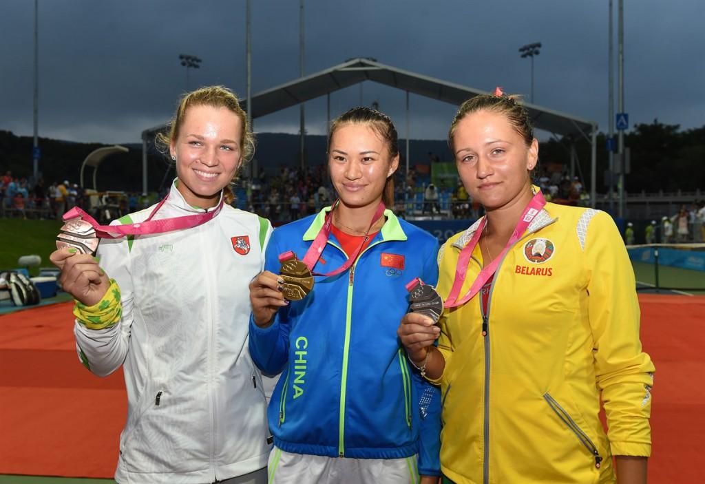 Nenhuma das medalhistas em 2014 chegou ao top 100 da WTA e a lituana Akvile Parazinskaite já não joga mais profissionalmente