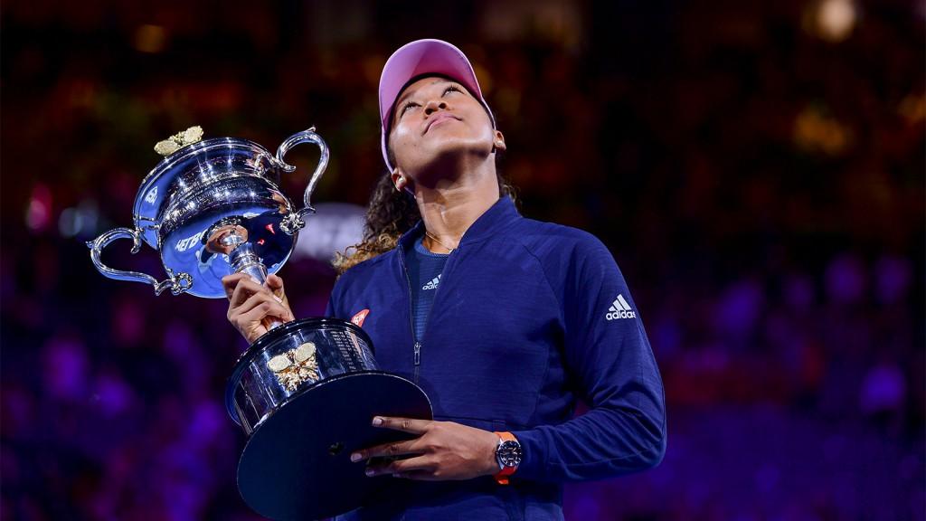 Osaka comemorou em Melbourne seu segundo título de Grand Slam (Foto Ben Solomon/Tennis Australia)