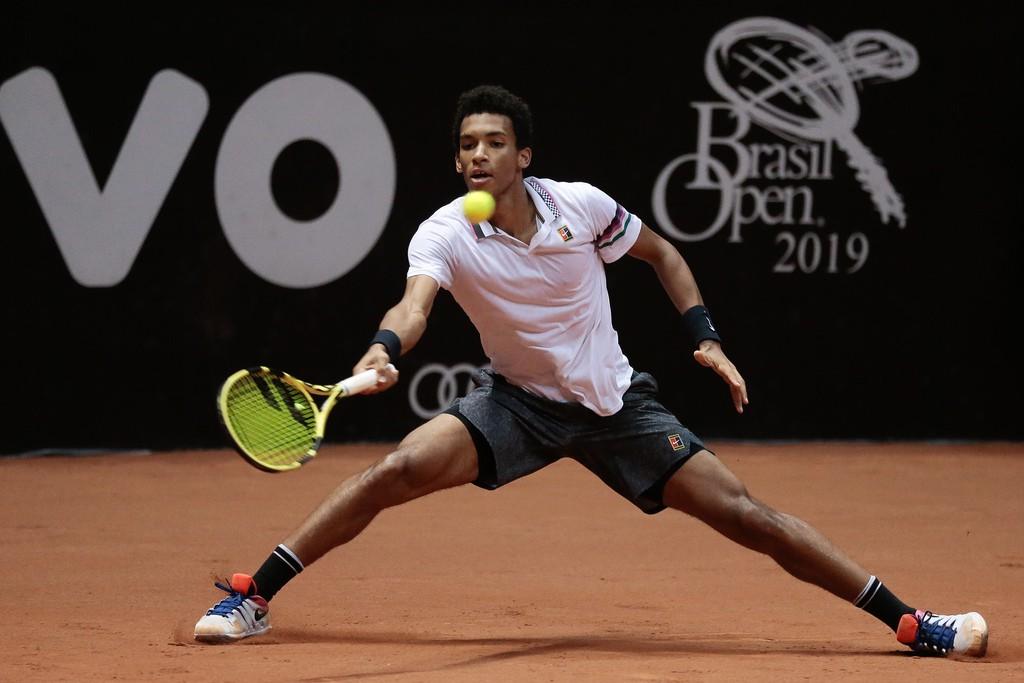Felix Auger-Aliassime disputou sua primeira final de ATP no Rio e chegou às quartas em  São Paulo (Foto: Marcello Zambrana/DGW)