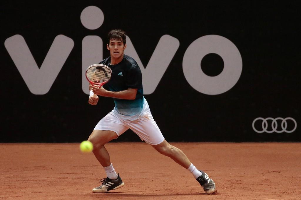 Campeão juvenil de Roland Garros em 2013, Christian Garin disputou sua primeira final de ATP em São Paulo (Foto: Marcello Zambrana/DGW)