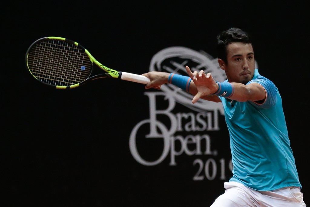 O boliviano Hugo Dellien fez quartas no Rio e em São Paulo e está com o melhor ranking na carreira (Foto: Marcello Zambrana/DGW)
