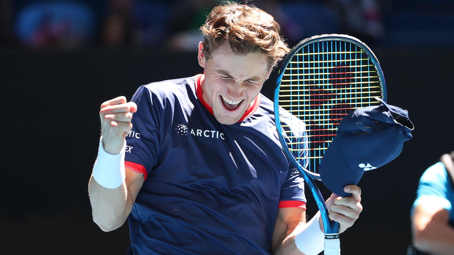 Casper Ruud venceu dois jogadores do top 20 na ATP Cup. Ele pode cruzar o caminho de Zverev