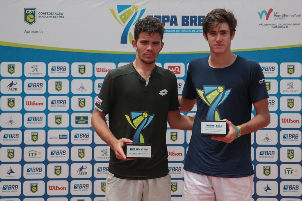 Natan Rodrigues e Gustavo Heide estavam no top 20 do ranking e garantidos em Roland Garros e Wimbledon (Foto: Marcello Zambrana/CBT)
