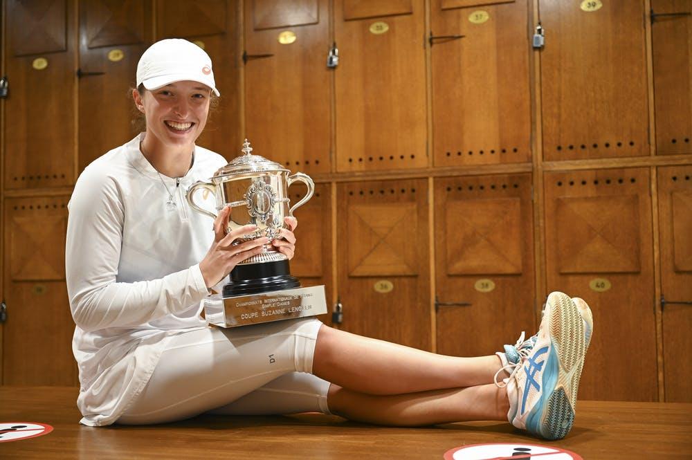 Swiatek conquistou o primeiro título de Grand Slam, com uma campanha muito dominante (Foto: Corinne Dubreuil/FFT)