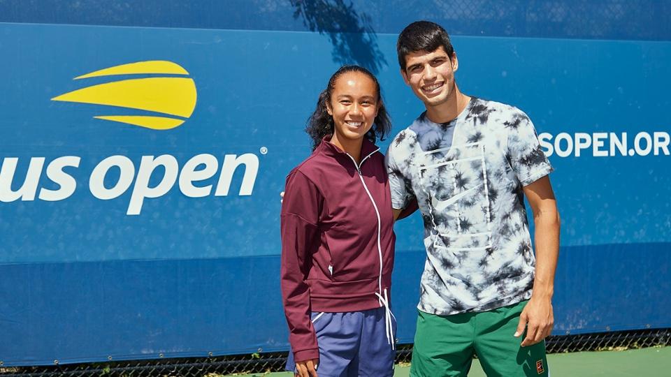 Leylah Fernandez e Carlos Alcaraz, ambos de 18 anos, são destaques da nova geração nas oitavas (Foto: Jennifer Pottheiser/USTA)
